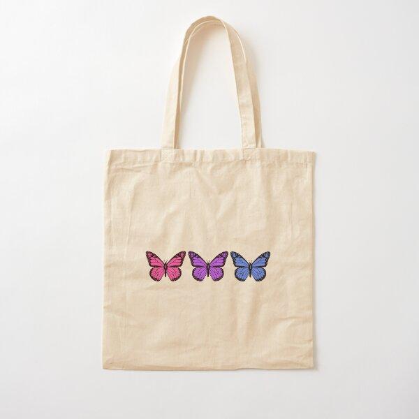 mariposas para personas que tienen fundas de teléfono claras Bolsa de algodón