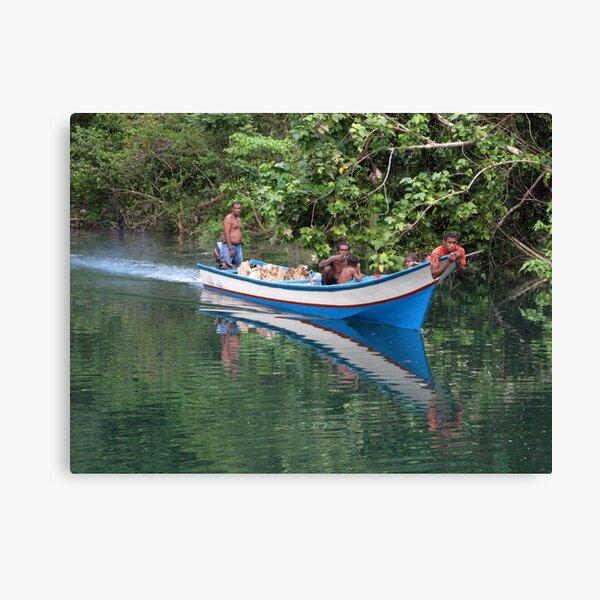 River men at Sungai Biru Canvas Print