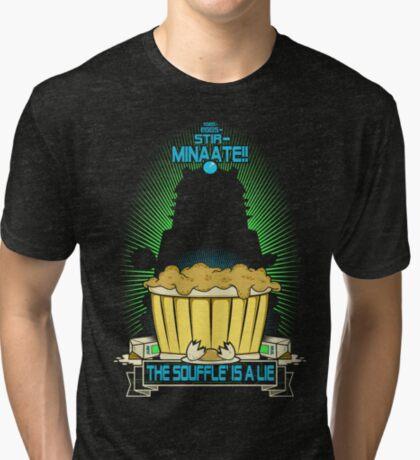 The Souffle' Is A Lie (eggggsTERMINATE!) Tri-blend T-Shirt