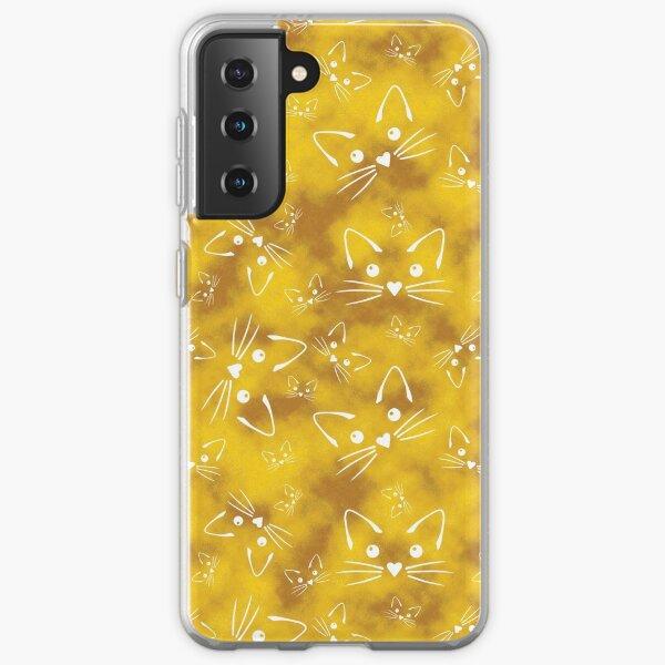 Kitties in Yellow Samsung Galaxy Soft Case