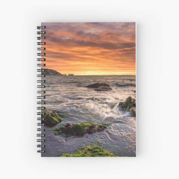Alum Bay and The Needles Sunset Spiral Notebook