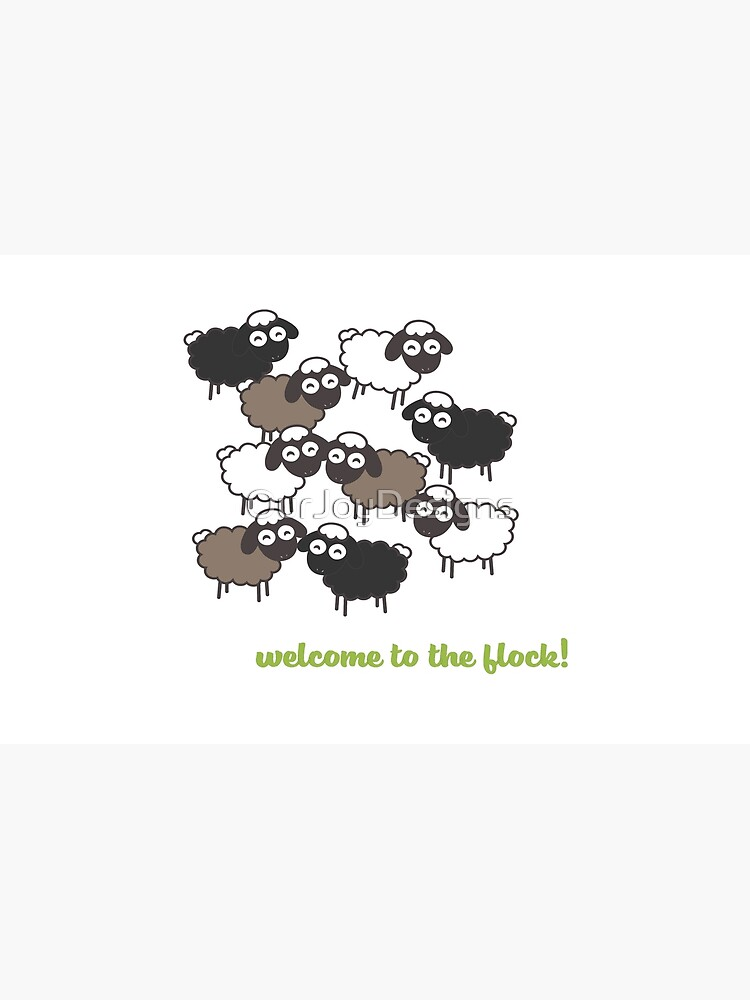Welcome to the Flock - Baptism Gift by OurJoyDesigns