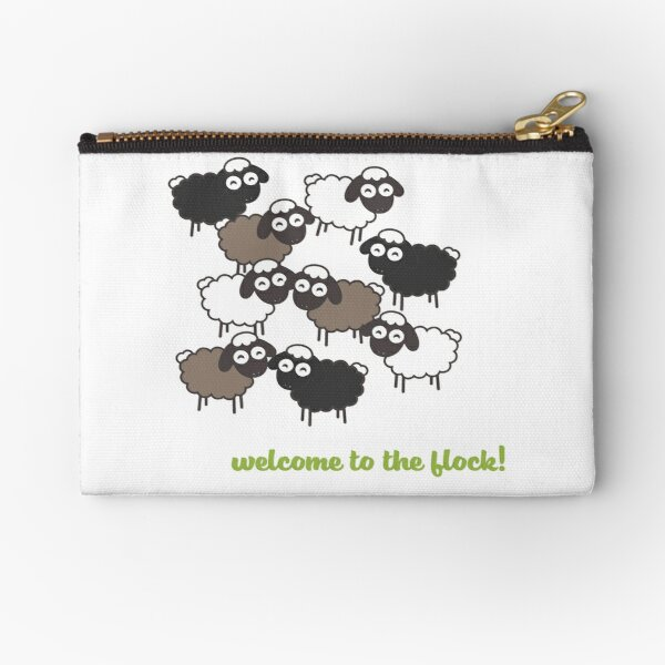 Welcome to the Flock - Baptism Gift Zipper Pouch