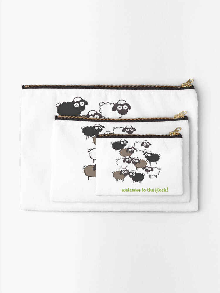 Alternate view of Welcome to the Flock - Baptism Gift Zipper Pouch