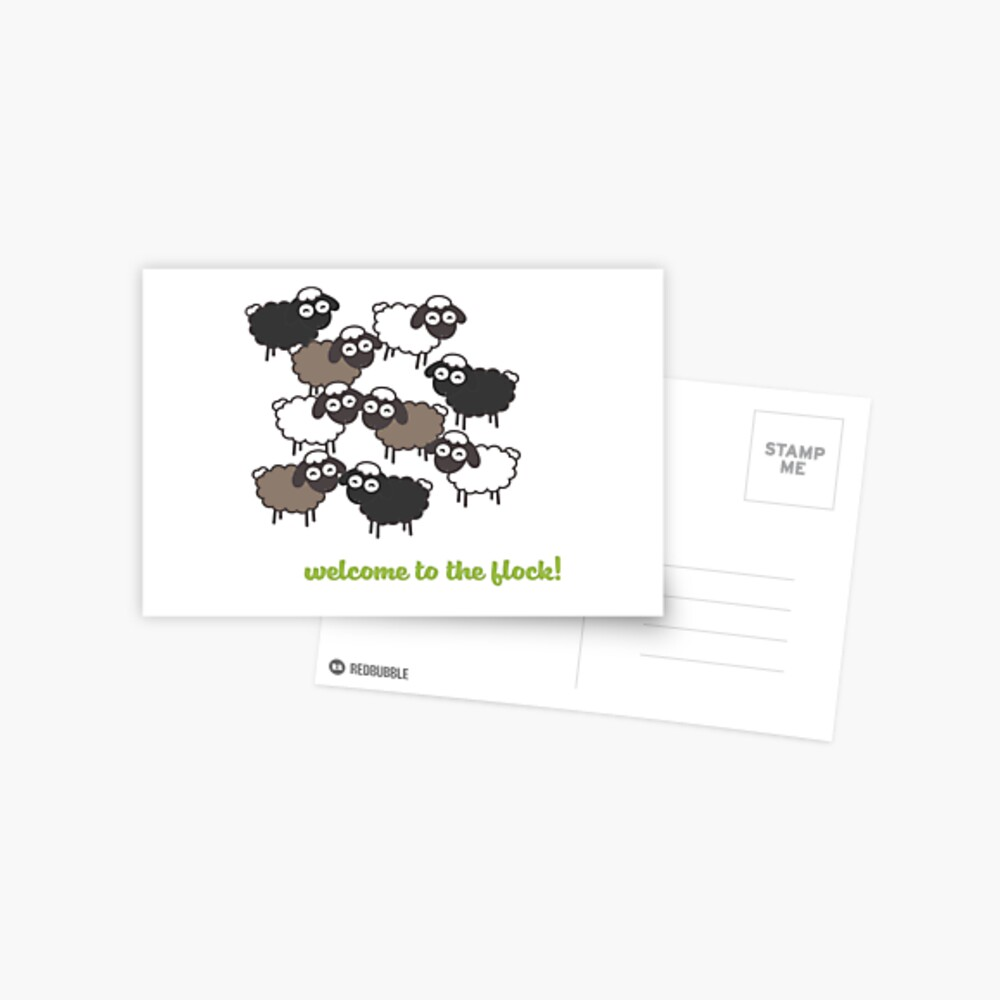 Welcome to the Flock - Baptism Gift Postcard