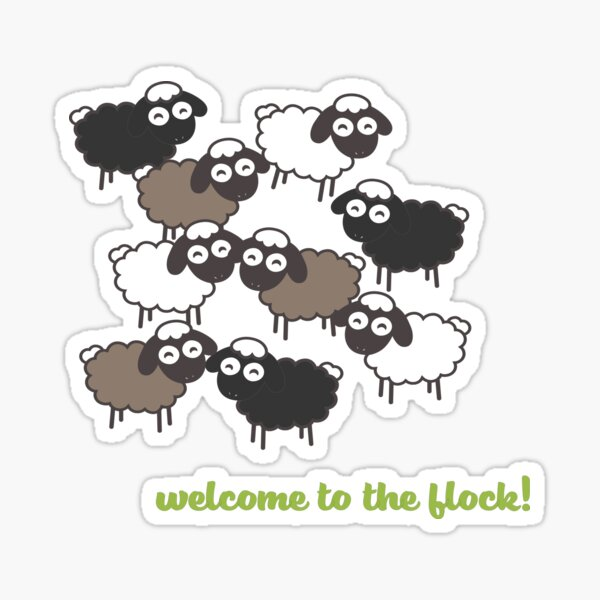 Welcome to the Flock - Baptism Gift Sticker