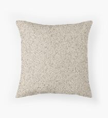 Literature in Print: Sherlock Holmes Throw Pillow