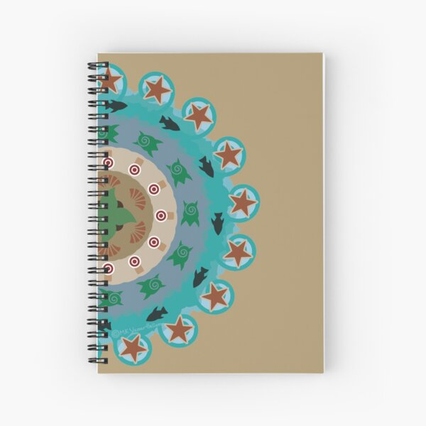 Paradise (Red Version) Spiral Notebook