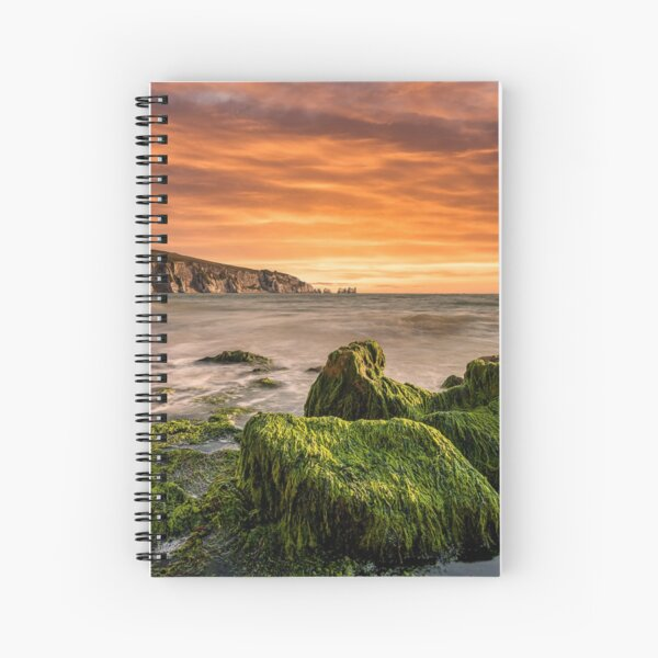 Alum Bay Rocks and The Needles Sunset Spiral Notebook