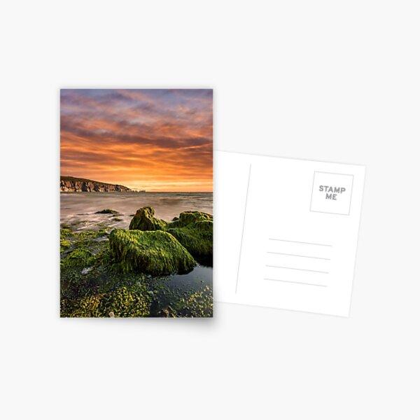 Alum Bay Rocks and The Needles Sunset Postcard