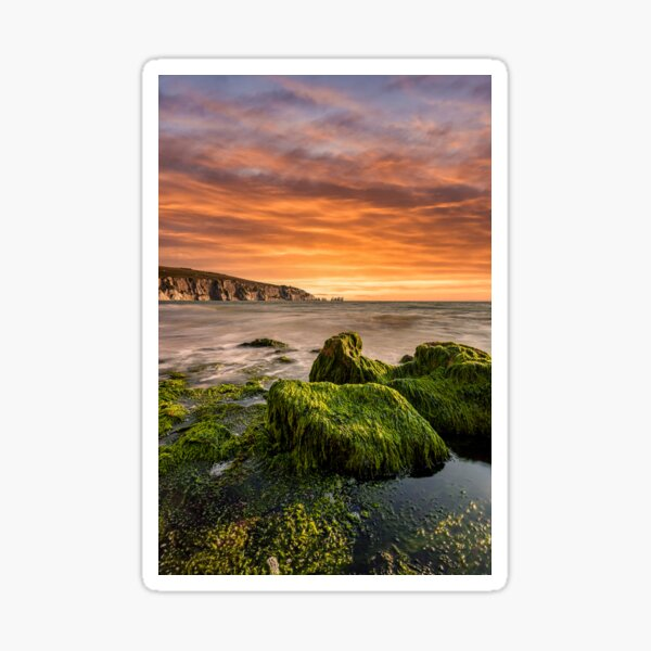 Alum Bay Rocks and The Needles Sunset Sticker