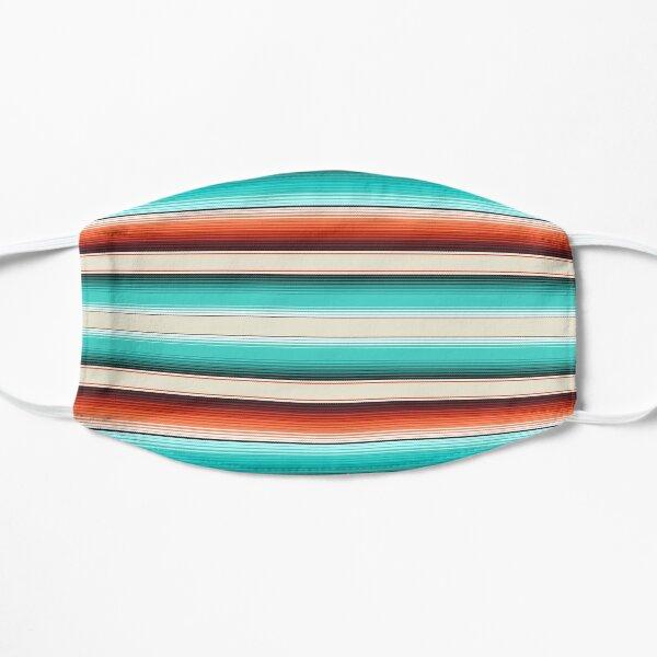 Navajo White, Turquoise and Burnt Orange Southwest Serape Blanket Stripes Mask