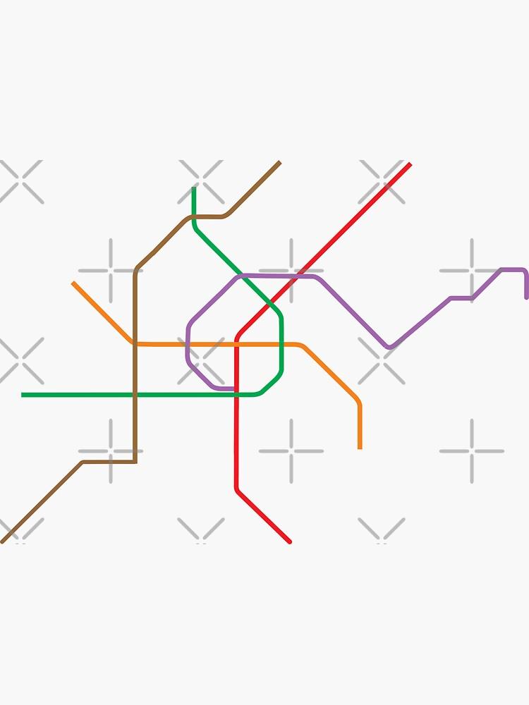 Vienna U-Bahn Map by in-transit