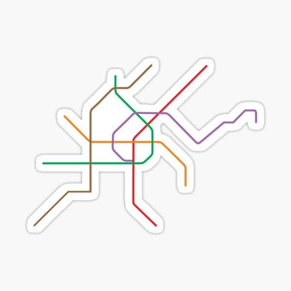 Vienna U-Bahn Map Sticker