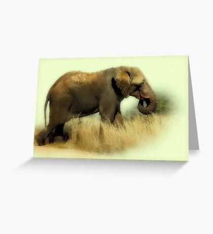 TOOTHLESS ELEPHANT Greeting Card