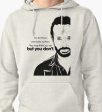 Rick's Famous Words (Black) Pullover Hoodie