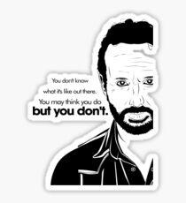 Rick's Famous Words (Black) Sticker