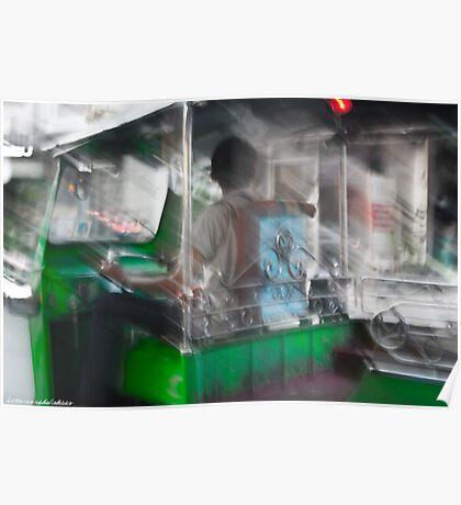 Green Tuk-Tuk Poster