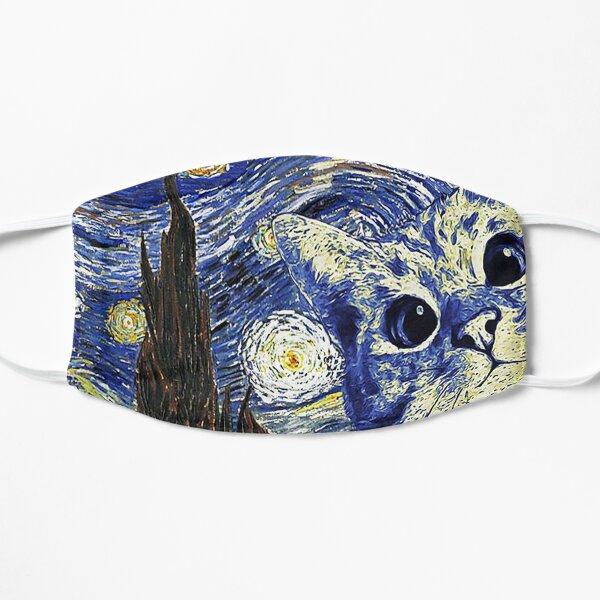 Cat Van Gogh style Cat Peinture à l'huile Masque sans plis