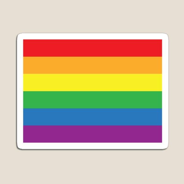Sticker - Gay Pride Flag - Rainbow Stripes Magnet