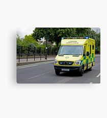 Emergency Ambulance Canvas Print