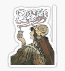 Rajah Coffee Fumes After  Henri Meunier Sticker