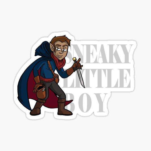 Sneaky Little Boy Sticker