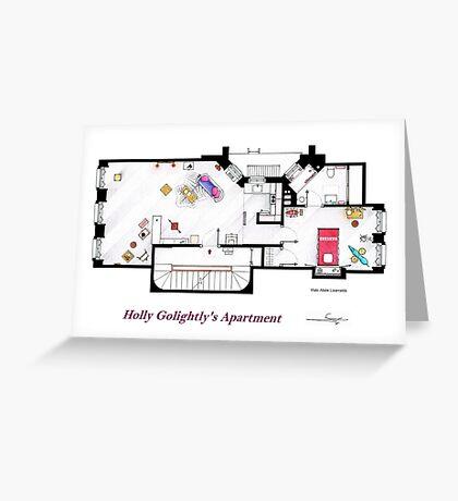 Breakfast at Tiffany's Apartment Floorplan Greeting Card