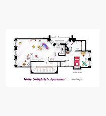Breakfast at Tiffany's Apartment Floorplan Photographic Print