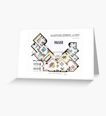 Frasier Apartment Floorplan Greeting Card