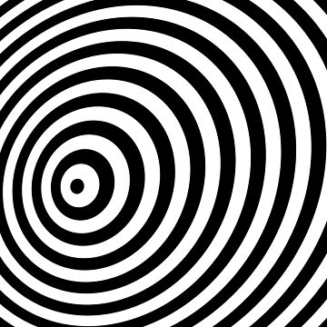 Modern Black & White Geometric Optical Illusion von badbugs