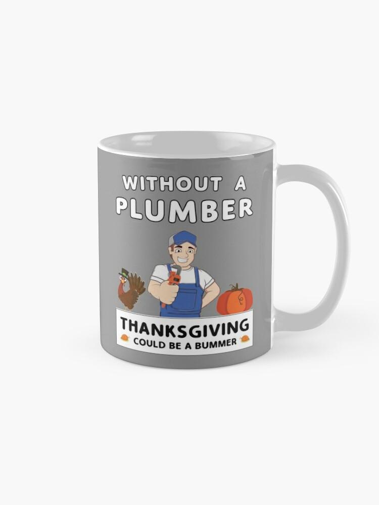 Alternate view of Thanksgiving Repairman Tradesman Contractor Gourd. Mug