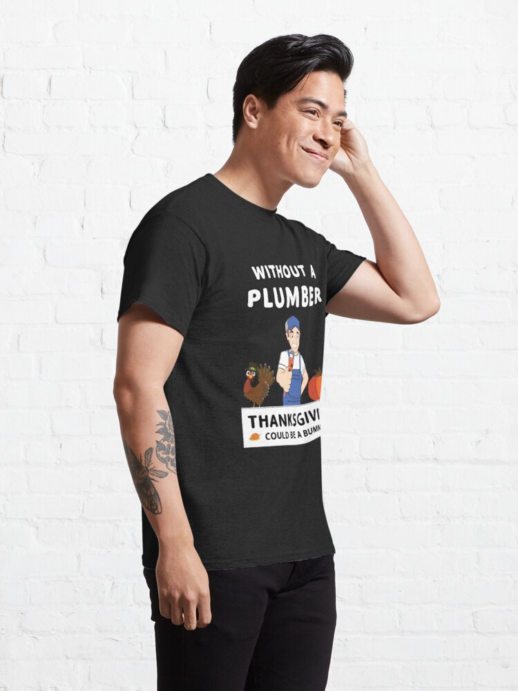 Alternate view of Thanksgiving Repairman Tradesman Contractor Gourd. Classic T-Shirt