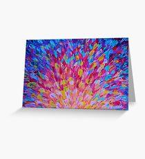SPLASH, Revisited - Bold Beautiful Feminine Romance Ocean Beach Waves Abstract Acrylic Magenta Crimson Greeting Card