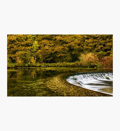 Autumn on the River Lathkill  Photographic Print
