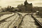 Railyard.... North Bennington Vermont by John Schneider