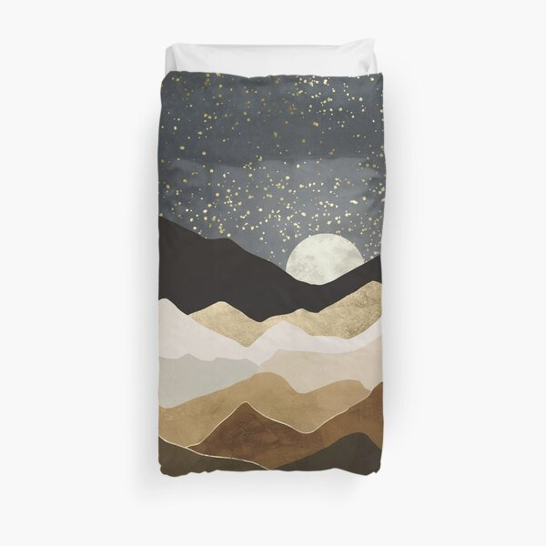 Golden Stars Duvet Cover