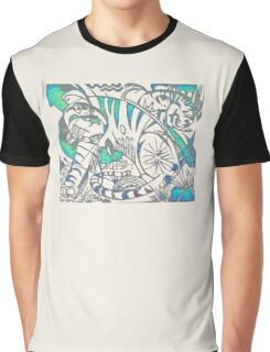 Tiger in Teal  After Franz Marc Graphic T-Shirt