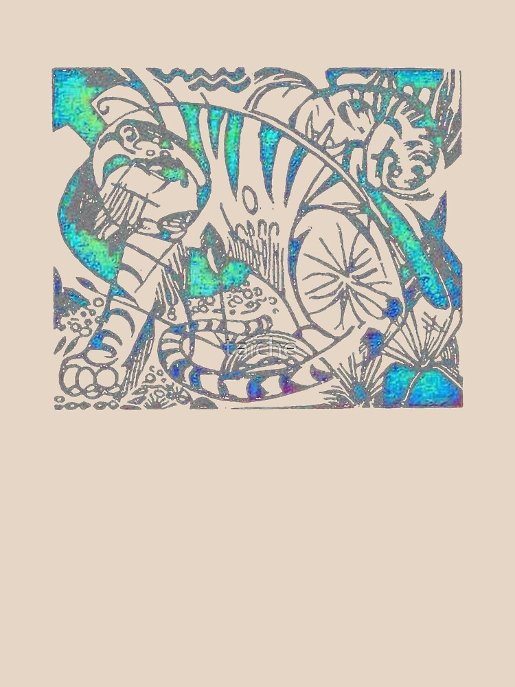 Tiger in Teal After Franz Marc by taiche
