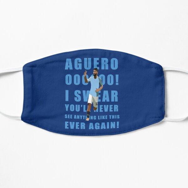 Copy of Sergio Agüero del Manchester City Mascarilla plana