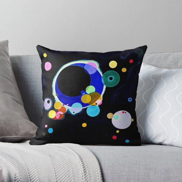 """Plusieurs cercles"" | Art Abstrait Wassily Kandinsky Coussin"