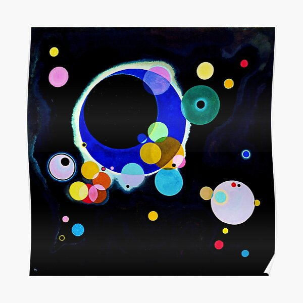 "Wassily Kandinsky ""Several Circles"" | Kandinsky Inspired Fine Art Poster"
