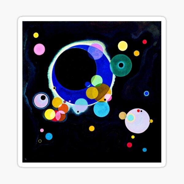 """Several Circles"" | Wassily Kandinsky Abstract Art Sticker"