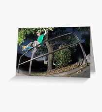 Silas Baxter-Neal - Front Feeble - Photo Sam McGuire Greeting Card