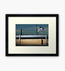 John Methvin - Heelflip - Photo Sam McGuire Framed Print