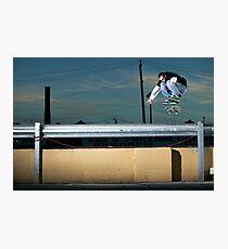 John Methvin - Heelflip - Photo Sam McGuire Photographic Print