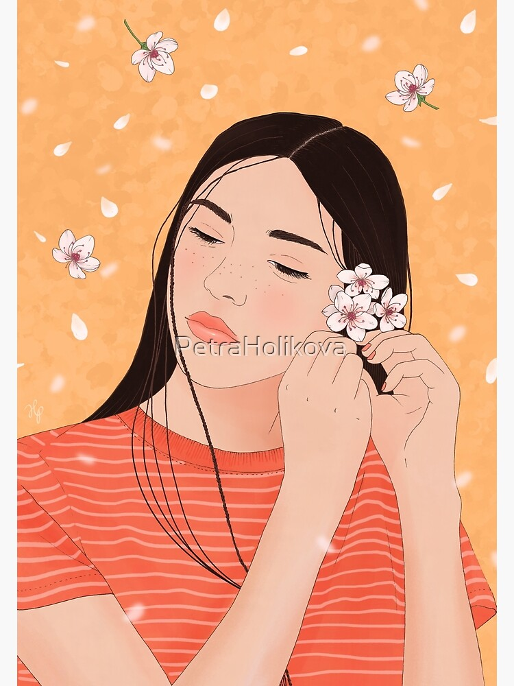 Girl with Cherry Blossoms by PetraHolikova