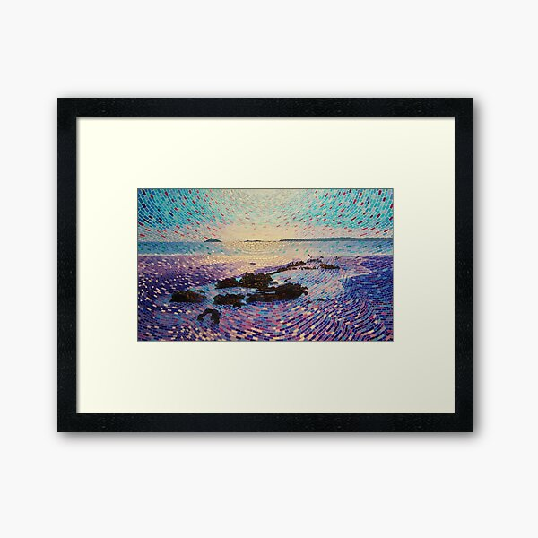 Shipwreck Near Garryvoe Beach Framed Art Print
