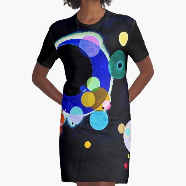 """Several Circles"" | Wassily Kandinsky Abstract Art Graphic T-Shirt Dress"