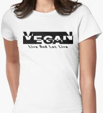 Vegan Live and Let Live Womens Fitted T-Shirt